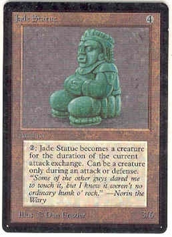 Magic the Gathering Beta Single Jade Statue - SLIGHT PLAY (SP)