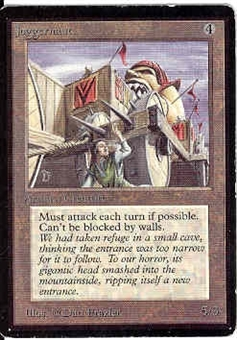Magic the Gathering Beta Single Juggernaut - SLIGHT PLAY (SP)