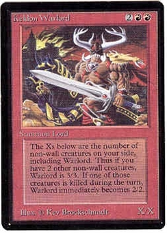 Magic the Gathering Beta Single Keldon Warlord - NEAR MINT (NM)