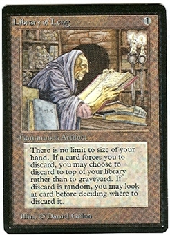 Magic the Gathering Beta Single Library of Leng - NEAR MINT (NM)