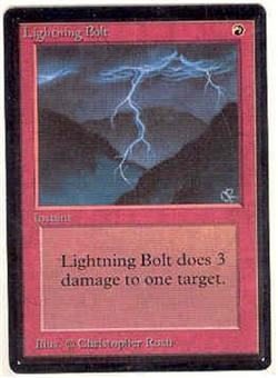 Magic the Gathering Beta Single Lightning Bolt - NEAR MINT (NM)