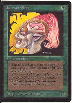 Magic the Gathering Beta Single Llanowar Elves - SLIGHT PLAY (SP)