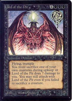 Magic the Gathering Beta Single Lord of the Pit - SLIGHT PLAY (SP)