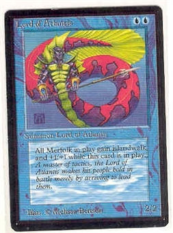 Magic the Gathering Beta Single Lord of Atlantis - SLIGHT PLAY (SP)