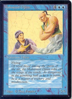 Magic the Gathering Beta Single Mahamoti Djinn - SLIGHT PLAY (SP)