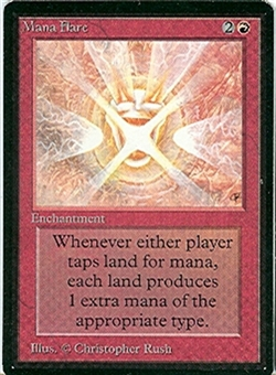 Magic the Gathering Beta Single Mana Flare - MODERATE PLAY (MP)