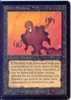 Magic the Gathering Beta Single Nether Shadow - NEAR MINT (NM)