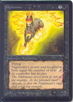 Magic the Gathering Beta Single Nightmare - SLIGHT PLAY (SP)