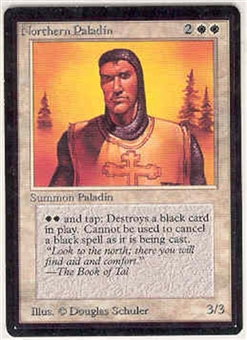 Magic the Gathering Beta Single Northern Paladin UNPLAYED (NM/MT)