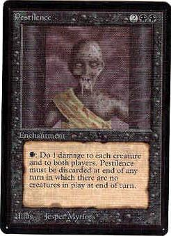 Magic the Gathering Beta Single Pestilence - SLIGHT PLAY (SP)