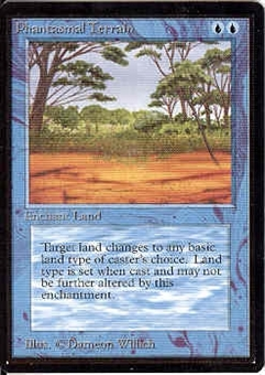 Magic the Gathering Beta Single Phantasmal Terrain UNPLAYED (NM/MT)