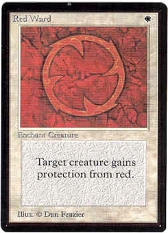 Magic the Gathering Beta Single Red Ward - SLIGHT PLAY (SP)
