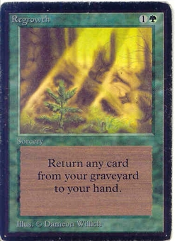 Magic the Gathering Beta Single Regrowth SLIGHT PLAY (SP)