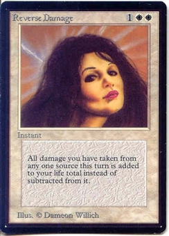 Magic the Gathering Beta Single Reverse Damage UNPLAYED (NM/MT)
