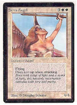 Magic the Gathering Beta Single Serra Angel - SLIGHT PLAY (SP)