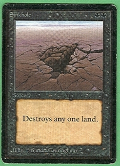 Magic the Gathering Beta Single Sinkhole MODERATE PLAY (VG/EX)
