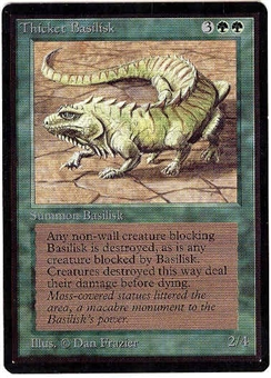 Magic the Gathering Beta Single Thicket Basilisk - NEAR MINT (NM)