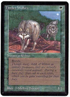 Magic the Gathering Beta Single Timber Wolves - SLIGHT PLAY (SP)