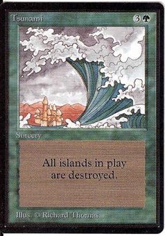 Magic the Gathering Beta Single Tsunami UNPLAYED (NM/MT)