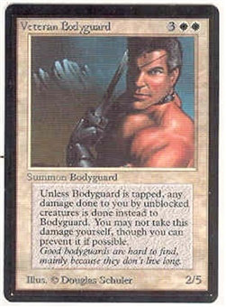 Magic the Gathering Beta Single Veteran Bodyguard UNPLAYED (NM/MT)