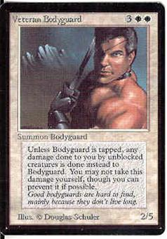 Magic the Gathering Beta Single Veteran Bodyguard - SLIGHT PLAY (SP)