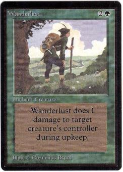 Magic the Gathering Beta Single Wanderlust - SLIGHT PLAY (SP)