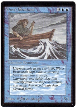 Magic the Gathering Beta Single Water Elemental UNPLAYED (NM/MT)