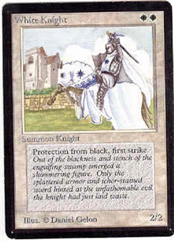 Magic the Gathering Beta Single White Knight - SLIGHT PLAY (SP)