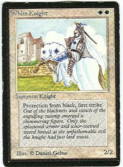Magic the Gathering Beta Single White Knight - MODERATE PLAY (MP)