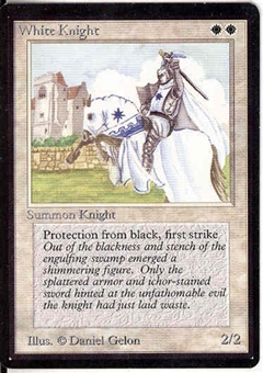 Magic the Gathering Beta Single White Knight UNPLAYED (NM/MT)