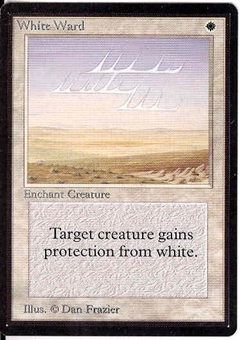 Magic the Gathering Beta Single White Ward UNPLAYED (NM/MT)