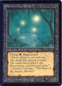 Magic the Gathering Beta Single Will-o'-the-Wisp UNPLAYED (NM/MT)