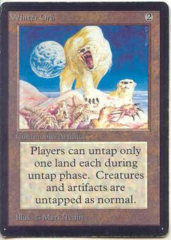 Magic the Gathering Beta Single Winter Orb - SLIGHT PLAY (SP)