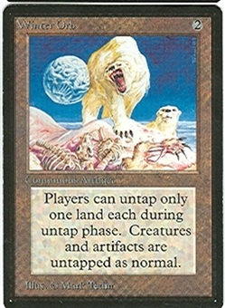 Magic the Gathering Beta Single Winter Orb UNPLAYED (NM/MT)