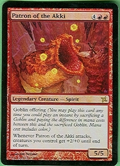 Magic the Gathering Betrayers of Kami Single Patron of the Akki Foil