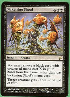 Magic the Gathering Betrayers of Kami Single Sickening Shoal - NEAR MINT (NM)