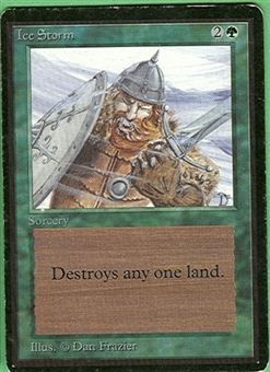 Magic the Gathering Beta Single Ice Storm - MODERATE PLAY (MP)