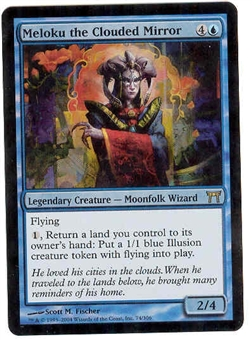 Magic the Gathering Champs of Kamigawa Single Meloku the Clouded Mirror FOIL