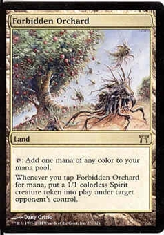 Magic the Gathering Champs of Kamigawa Single Forbidden Orchard Foil