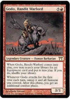 Magic the Gathering Champs of Kamigawa Single Godo, Bandit Warlord - NEAR MINT (NM)