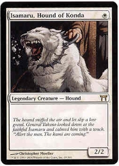 Magic the Gathering Champs of Kamigawa Single Isamaru, Hound of Konda - NEAR MINT (NM)