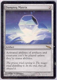 Magic the Gathering Mirrodin Single Damping Matrix UNPLAYED (NM/MT)
