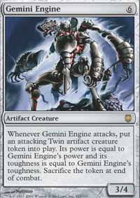 Magic the Gathering Darksteel Singles 4x Gemini Engine - NEAR MINT (NM)