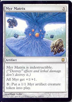 Magic the Gathering Darksteel Single Myr Matrix - NEAR MINT (NM)