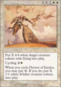 Magic the Gathering Scourge Single Decree of Justice - SLIGHT PLAY (SP)