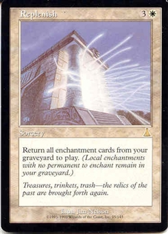 Magic the Gathering Urza's Destiny Single Replenish - NEAR MINT (NM)