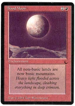 Magic the Gathering Dark Single Blood Moon - MODERATE PLAY (MP)