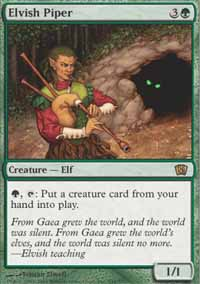 Magic the Gathering 8th Edition Single Elvish Piper - MODERATE PLAY (MP)