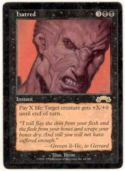 Magic the Gathering Exodus Single Hatred - SLIGHT PLAY (SP)