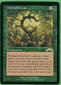 Magic the Gathering Exodus Single Oath of Druids - SLIGHT PLAY (SP)